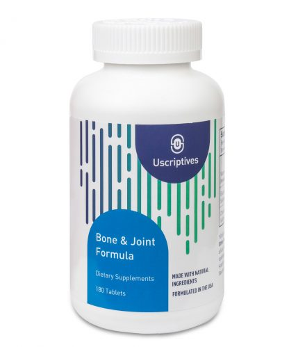 bone and joint supplement nutritional facts - 180 count