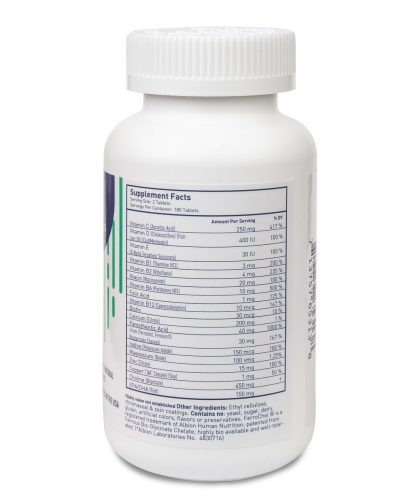 prenatal multivitamin nutritional facts - 180 count