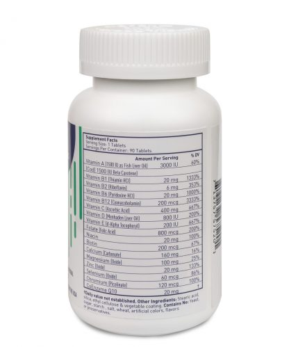multivitamin for adults nutritional facts - 90 count