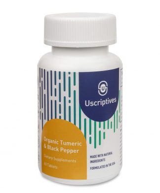 organic turmeric and black pepper supplements - 60 count