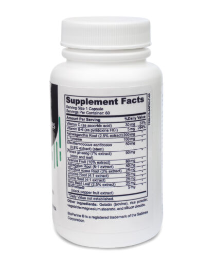 adrenal support supplement nutritional facts - 60 count